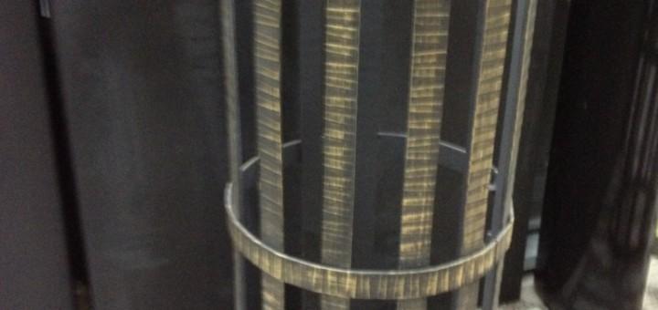 Сетка на трубу для камней кованая